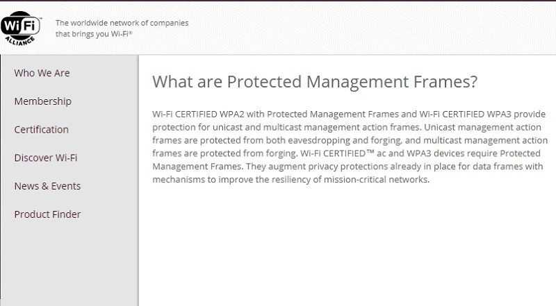 wi-fi-protected-management-frames