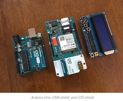 Arduino Uno Gsm Shield Lcd Shield