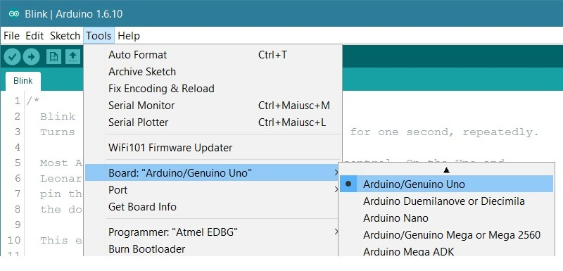 Arduino Board Uno Connect