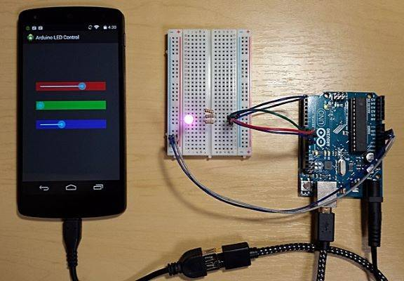 Arduino With Android Led Light Blink
