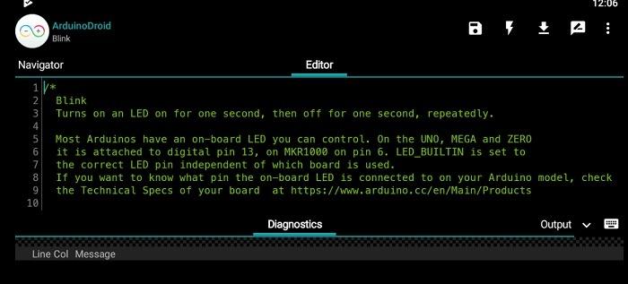 Blink Led Code Arduinodroid