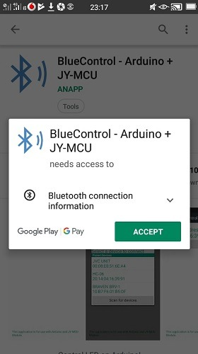 Bluecontrol App