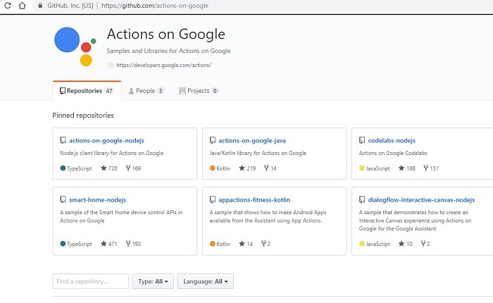 End To End Actions On Google Github Repositories