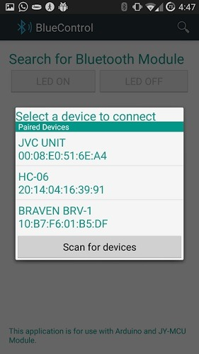 Search And Pair With Bluetooth Module