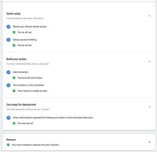 Test Actions Google Home