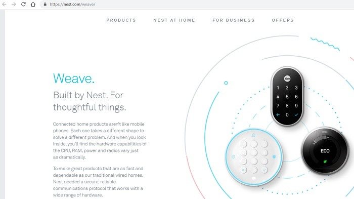 Weave Homepage At Nest