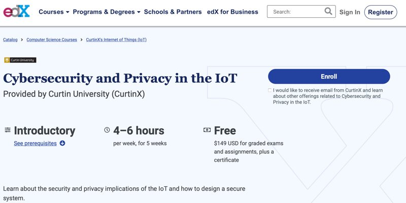 Iot Security Courses Edx Cybersecurity And Privacy In The Iot