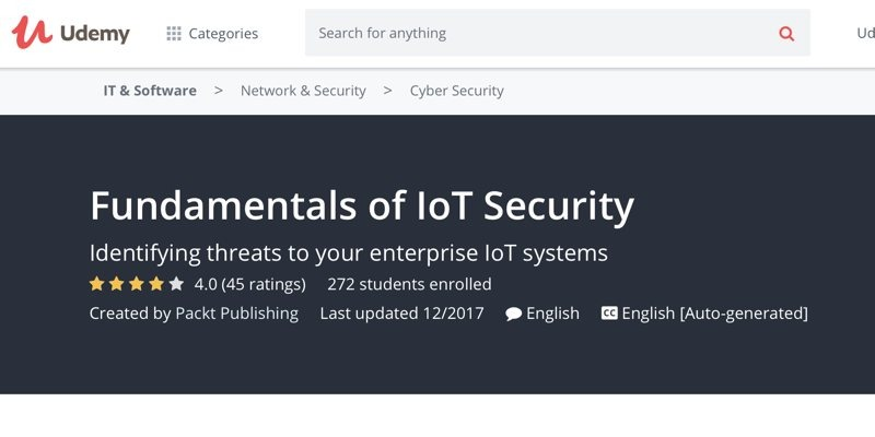 Iot Security Courses Udemy Fundamentals Of Security