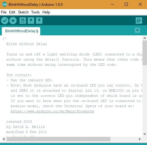 Arduino Blink Without Delay Code
