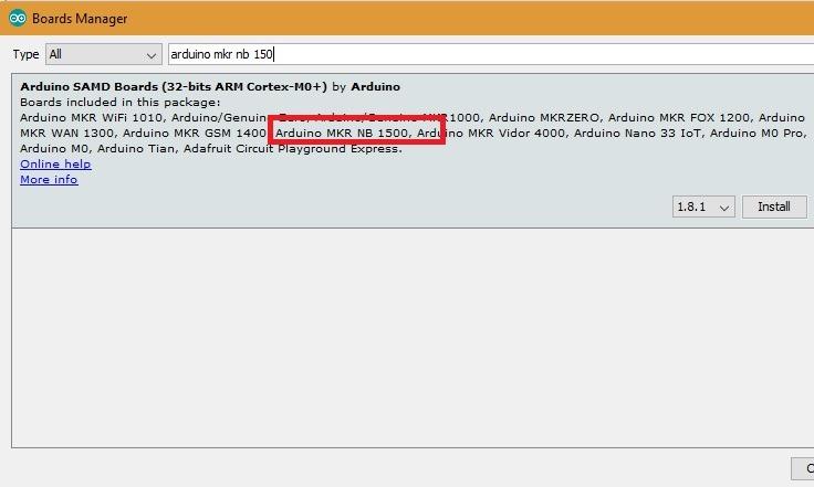 Arduino Mkr Nb 1500 Install