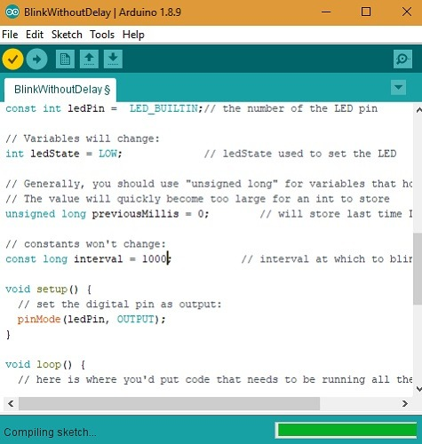 Arduino Compilling Sketch