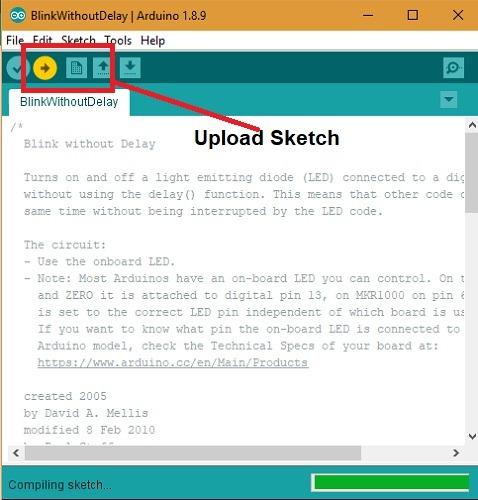 Blinkwithoutdelay Uploadsketch
