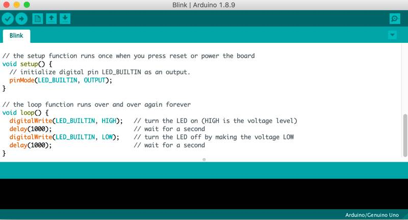 Install Arduino Ide Mac Blink Example