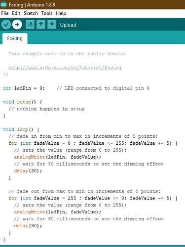 Arduino Ide Fading