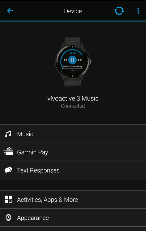 Garmin Vivoactive3 Music Sync Garmin Connect