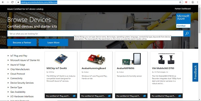 Azure Precertified Plug And Play Devices Catalog