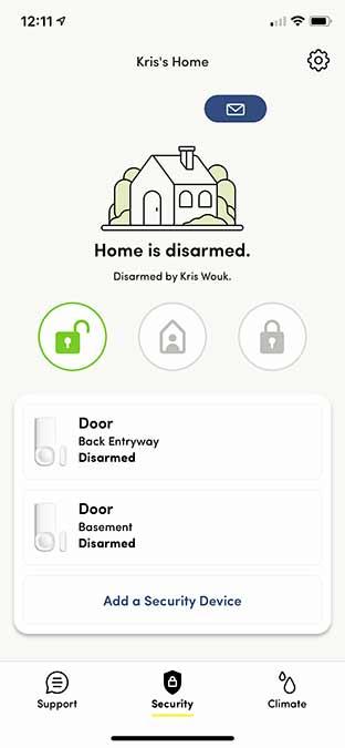 Kangaro Motion Entry Sensor Review App Control