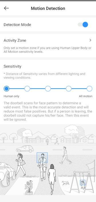 Eufy Video Doorbell App Motion Detection