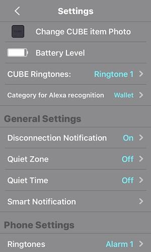Review Cube Settings