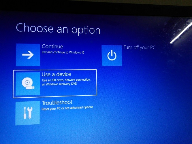 Use A Device For Boot Win 10