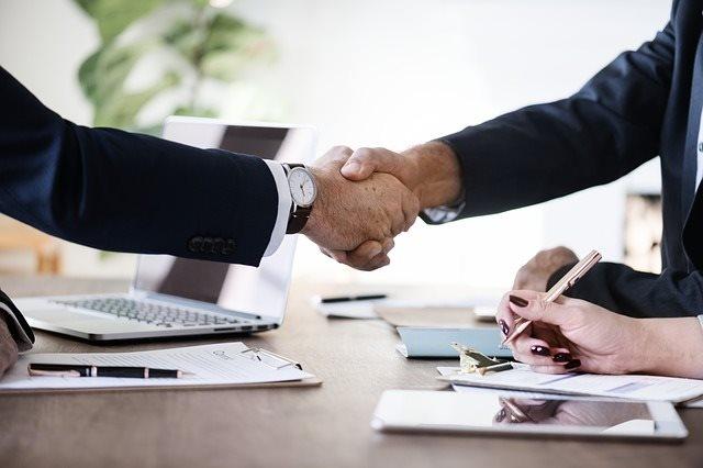 Vodafone Partnership Handshake