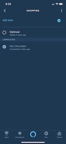 Manage Shopping Lists Alexa Add Items