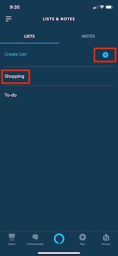 Manage Shopping Lists Alexa Shopping