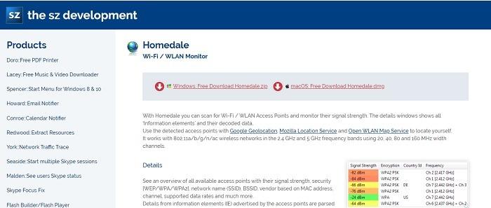 Homedale Homepage