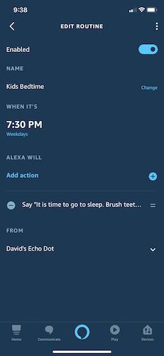 Make Use Alexa Routines Kids Bedtime
